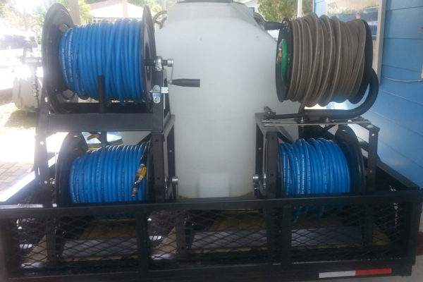 commercial grade trailer mounted pressure washing equipment